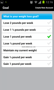 Calorie Counter android app screencap