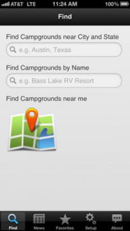 camp finder iOS android screenshot