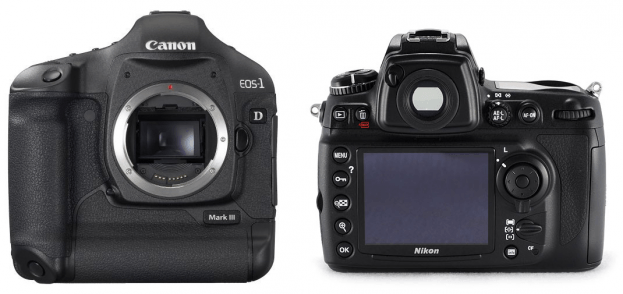 canon and nikon