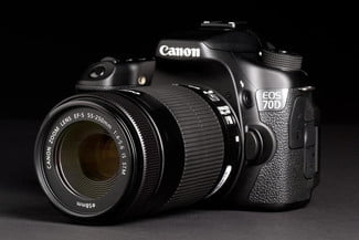 Canon EOS 70D front left angle