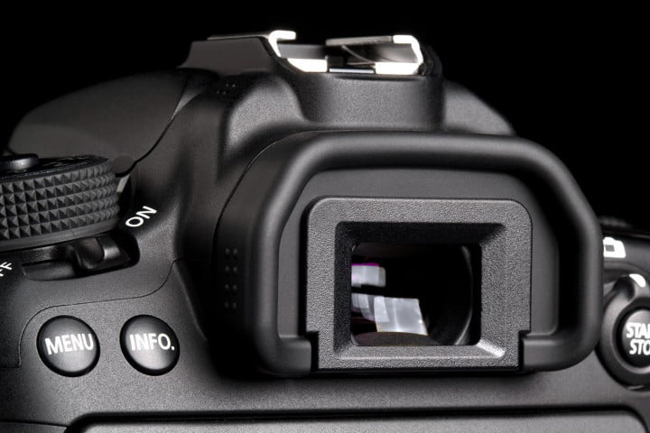 canon eos  d review viewfinder