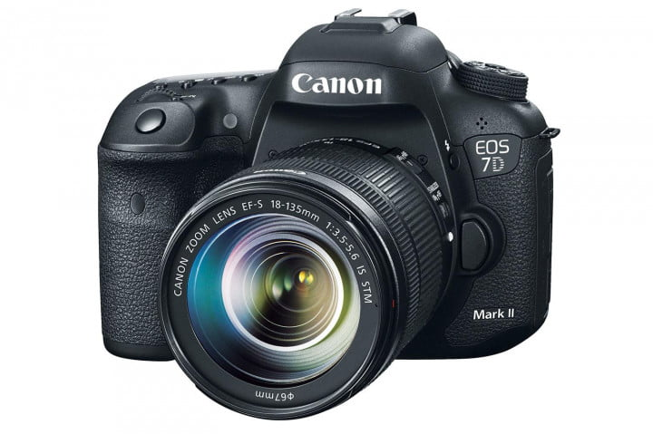 hands on review canon eos  d mark ii front angled press image
