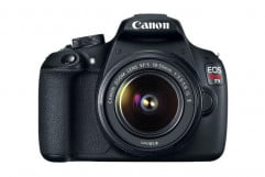 canon eos rebel t  review front