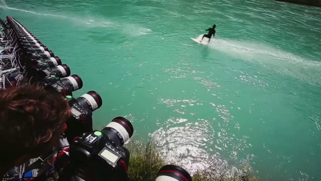 canon full frame dslrs turn bungee surfers matrix like action characters europe doklab bullet time
