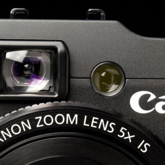 Canon G16 Camera viewfinder front