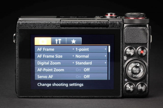 Canon G7x back screen on