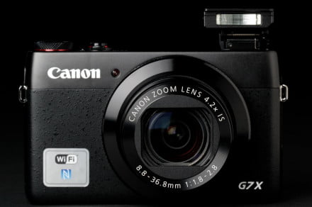 Canon G7x front flash