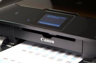 Canon MG6320 Review test paper