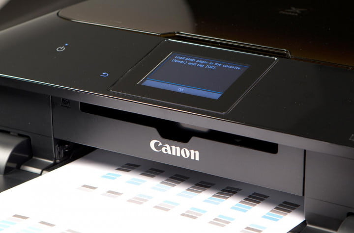 canon mg  review test paper