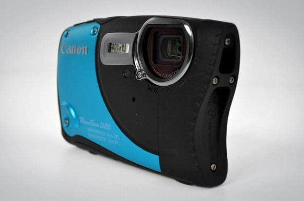 canon powershot d20 review front angle