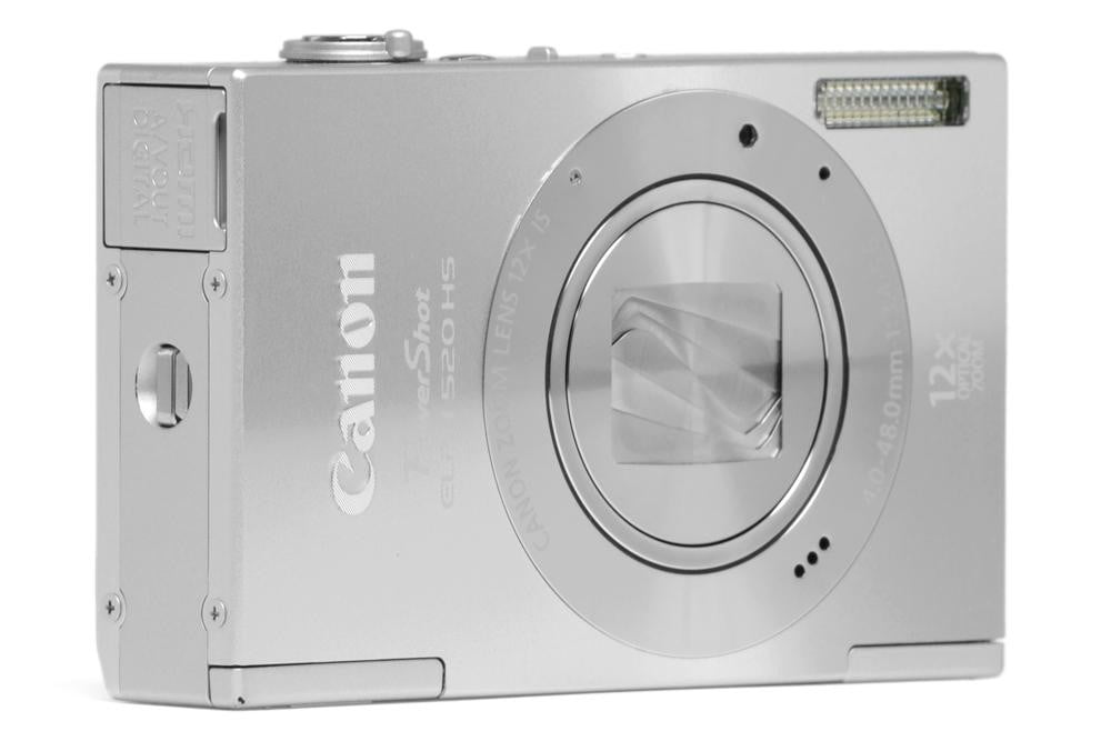 canon-powershot-elph-520-hs-review-silver-front-angle