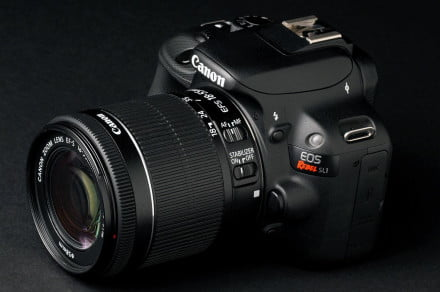 Canon Rebel SL1 front angle