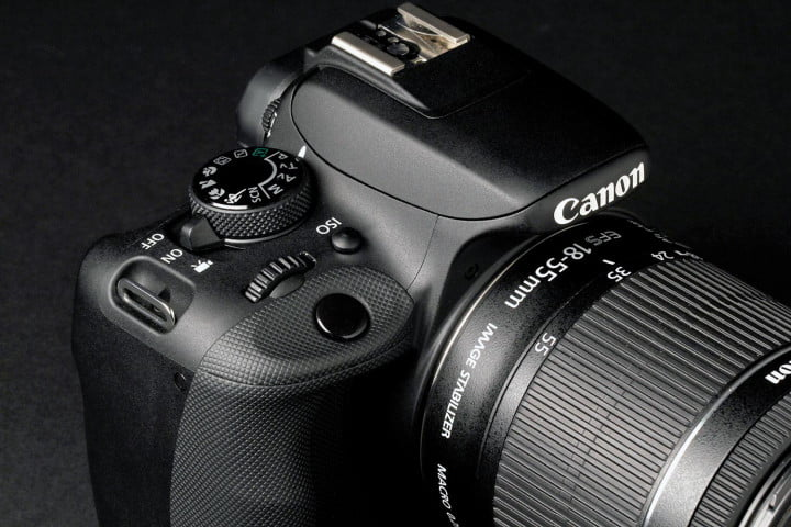 canon eos rebel sl  review top section