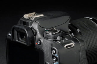 Canon Rebel SL1 top section back