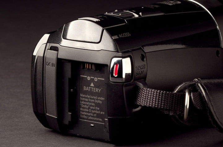 canon vixia hf m  review hfm back angle