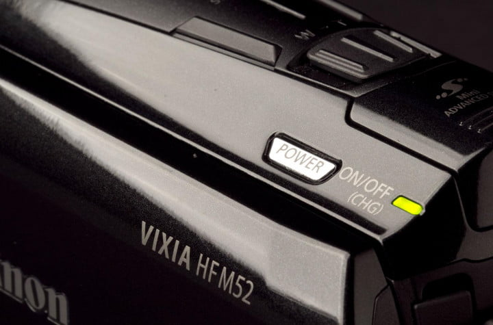 canon vixia hf m  review hfm power button