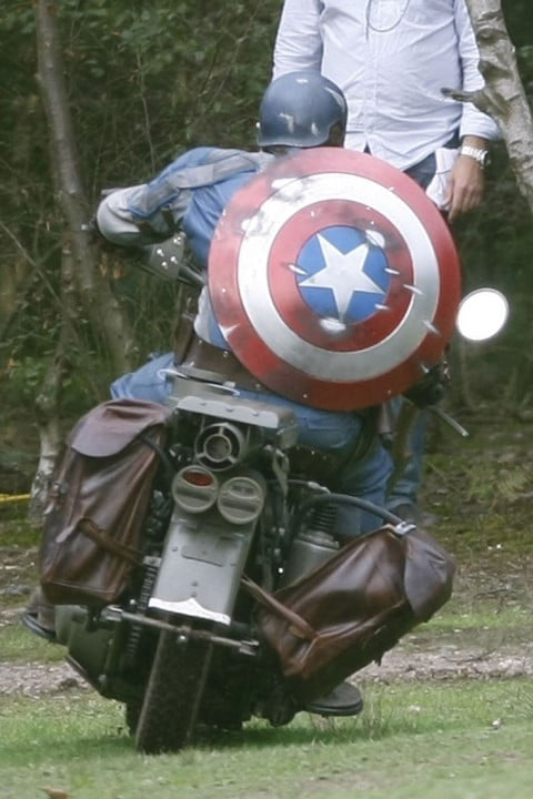 captain america images leaked online cap with shield