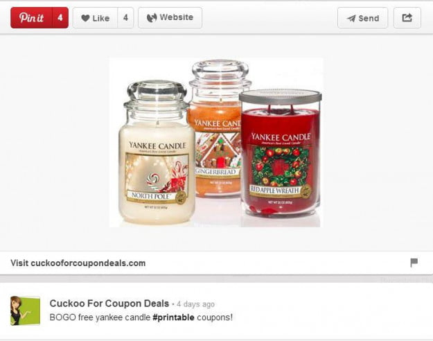 Pinterest coupon