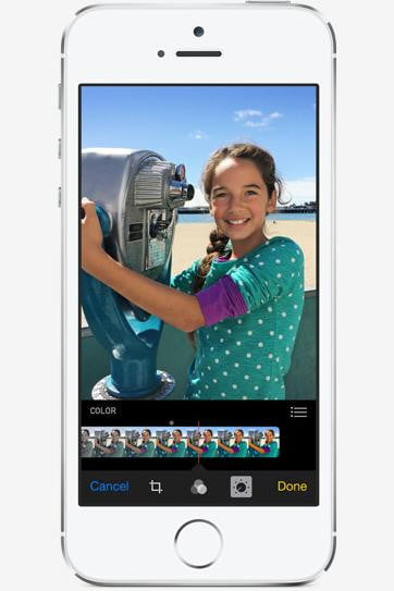 apple ios  photos app features capture adjust color