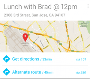 Google Now (Next Appointment)