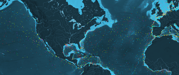 Watch in awe as thousands of cargo ships traverse the world's oceans