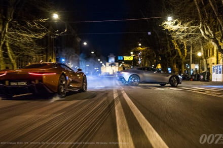 car chase for James Bond movie Spectre