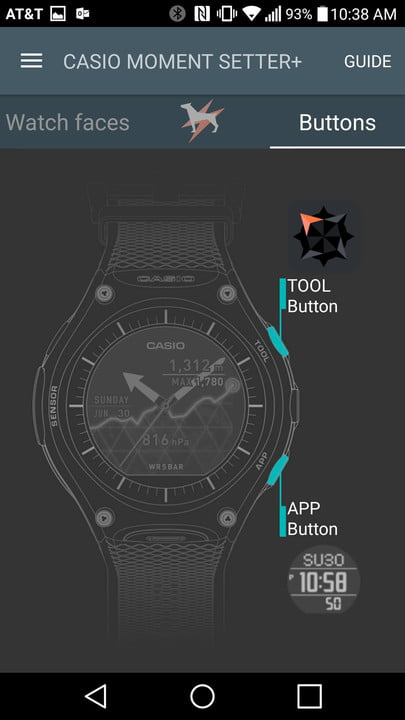 casio wsd f  review moment setter app