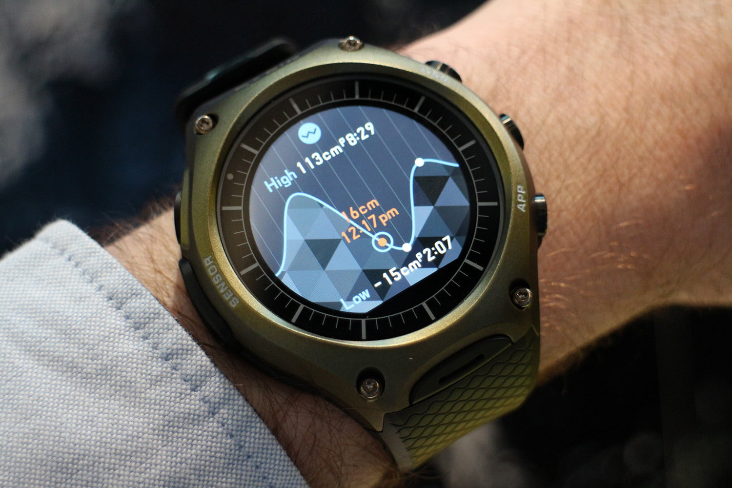 soft tech on casio wsd f10 android wear smartwatch