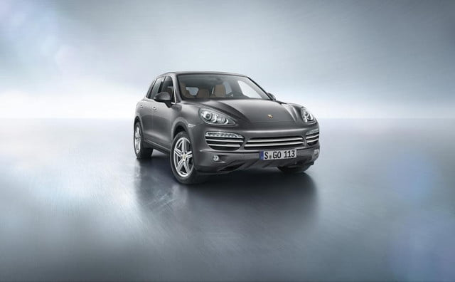 porsche plans five door cayenne coupe  platinum edition x c
