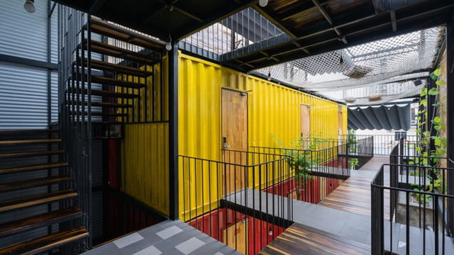 vietnamese shipping container hostel ccasa by tak architects