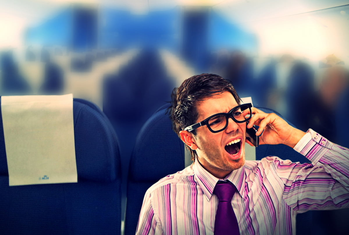 gogo text talk flight service cell phone airplane etiquette