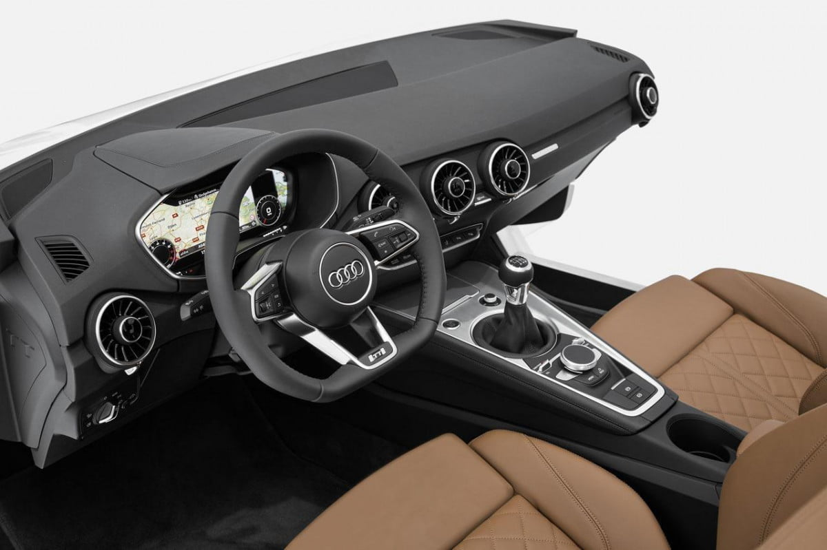 audi wont use tt virtual cockpit design larger models  interior mockup