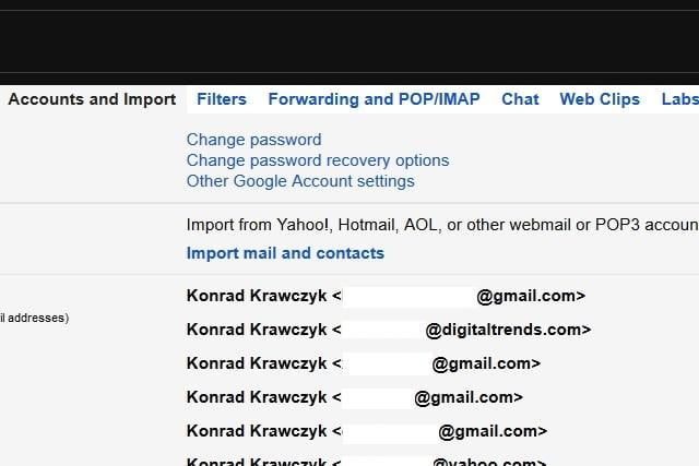 how to change password on a gmaio acount