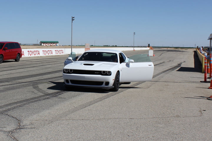 dodge charger challenger srt hellcats track review and hellcat on front doors open