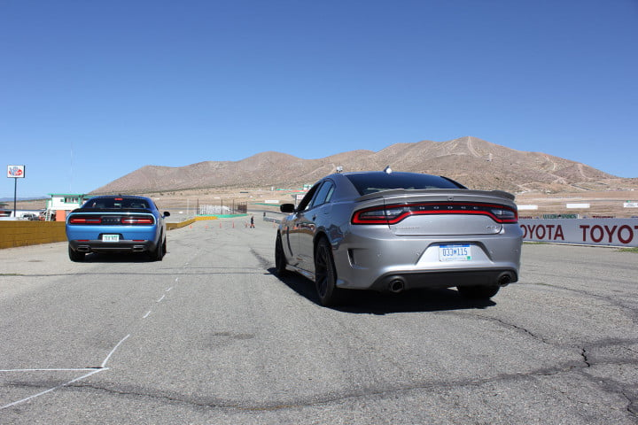 dodge charger challenger srt hellcats track review and hellcat on silver blue back