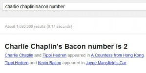 Charlie Chaplin Bacon Number