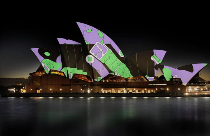 sydney opera house projection mapping chase