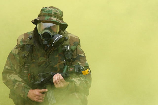 chemical weapons fabric warfare gas mask