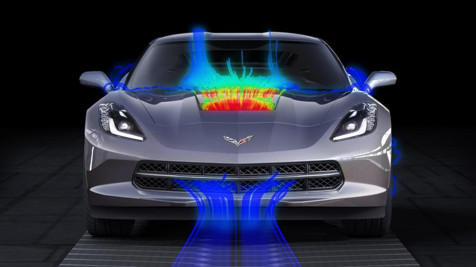 Chevrolet Corvette air flow