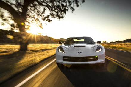Chevrolet Corvette Stingray at sunset