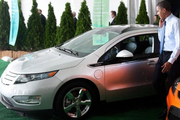 Obama and Chevy Volt