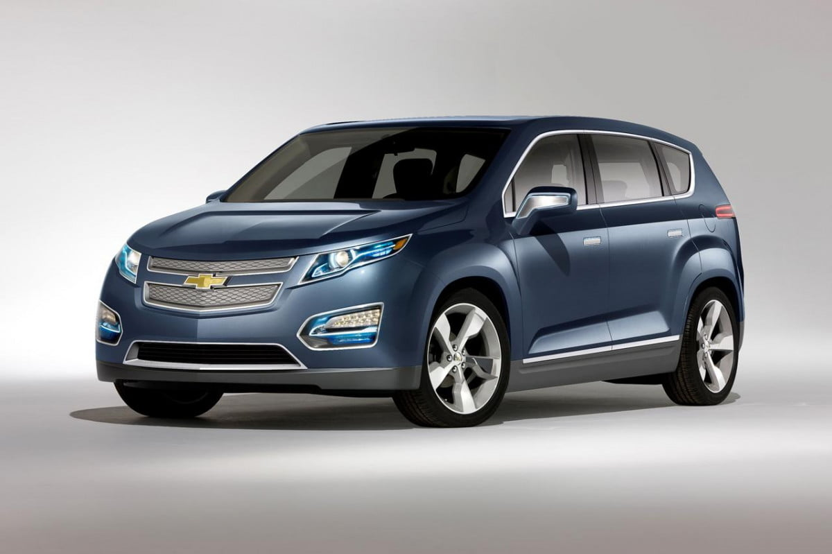 gm hints at plug in cuv with crossvolt trademark chevrolet mpv  volt concept