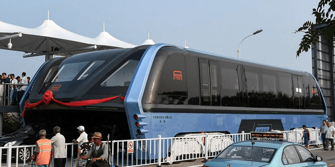 the straddling bus of china The test run of a straddling bus that allows cars to drive underneath is likely to be held in beidaihe district of qinhuangdao, hebei province in august, beijing youth daily reported on monday.