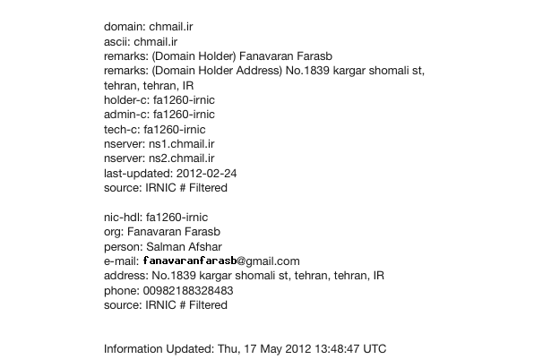 Chmail-Whois
