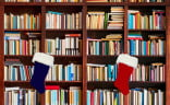 Bookworms' walls may be covered with shelves, but there's still a spot of stockings. (Image © Twin Design via Shutterstock.com)