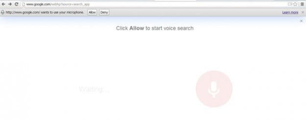 Chrome conversational search_activate mic