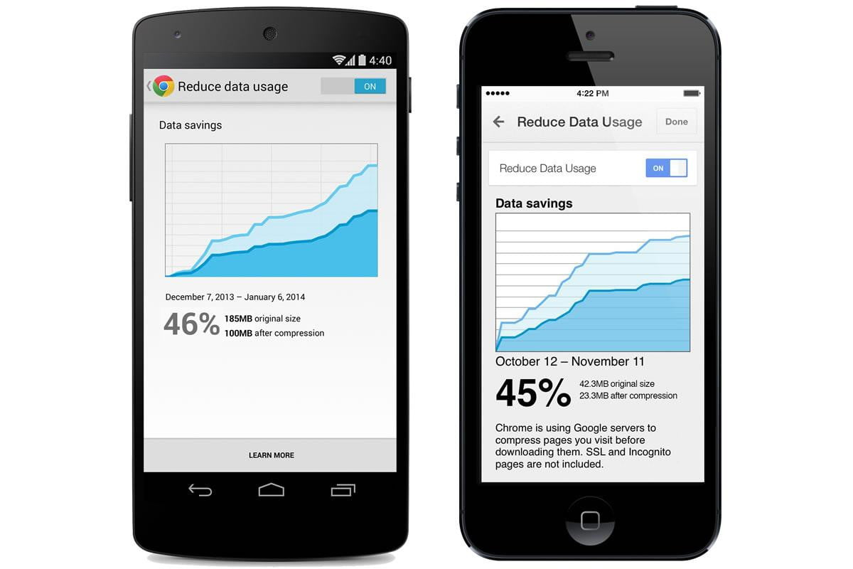 googles chrome mobile update may reduce data usage  percent