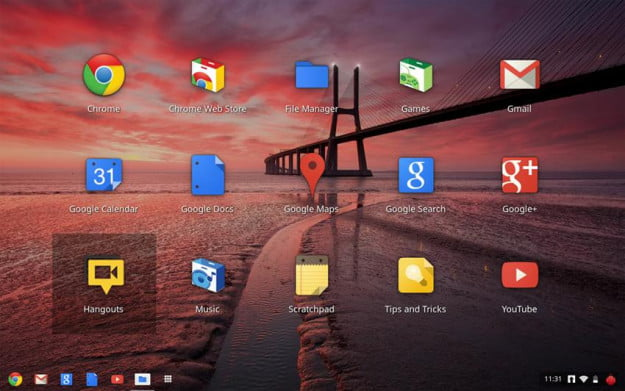 google chrome os 16 chromebook operating system desktop screenshot
