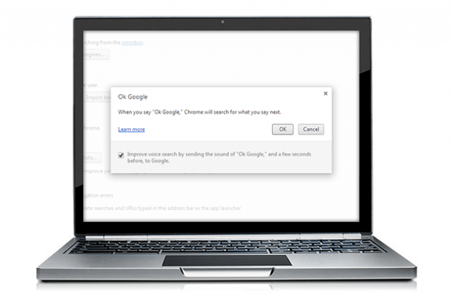 how to enable ok google hands free voice search in chrome