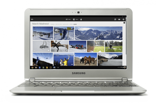 google photos app now available for all chromebooks not just pixel chromebook